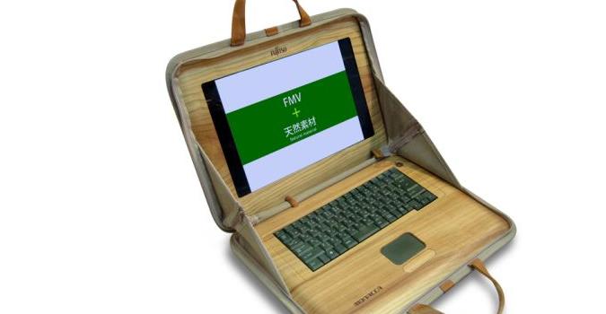 laptop cu lemn de cedru