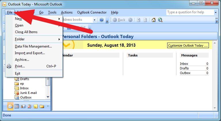 Microsoft Outlook Backup