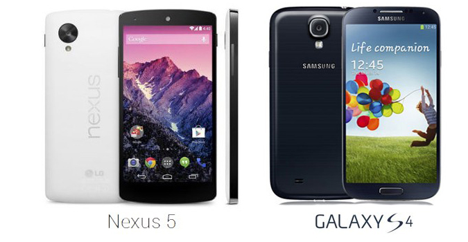 nexus5 vs galaxys4